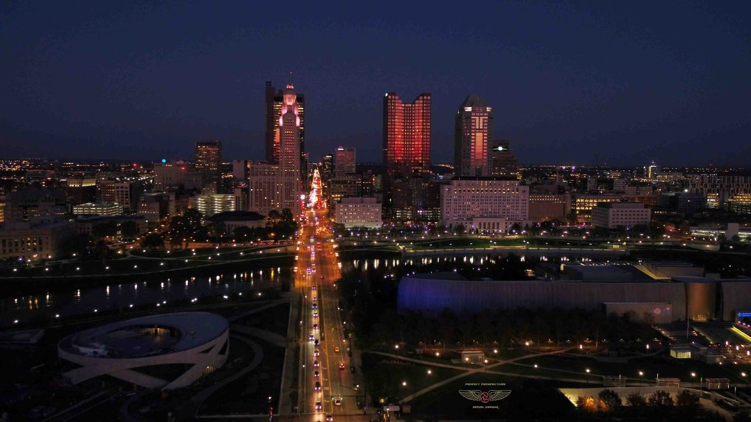 Columbus Drone Night Photography