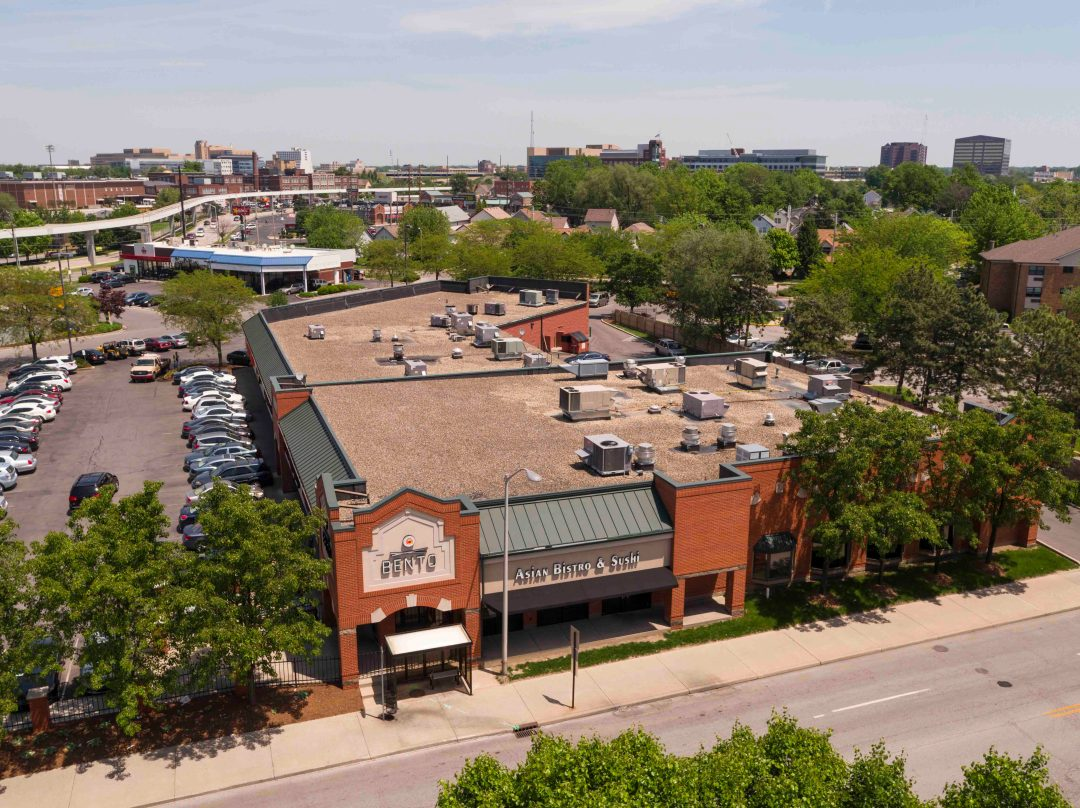 Drone Aerial Video & Photography of Indianapolis retail space
