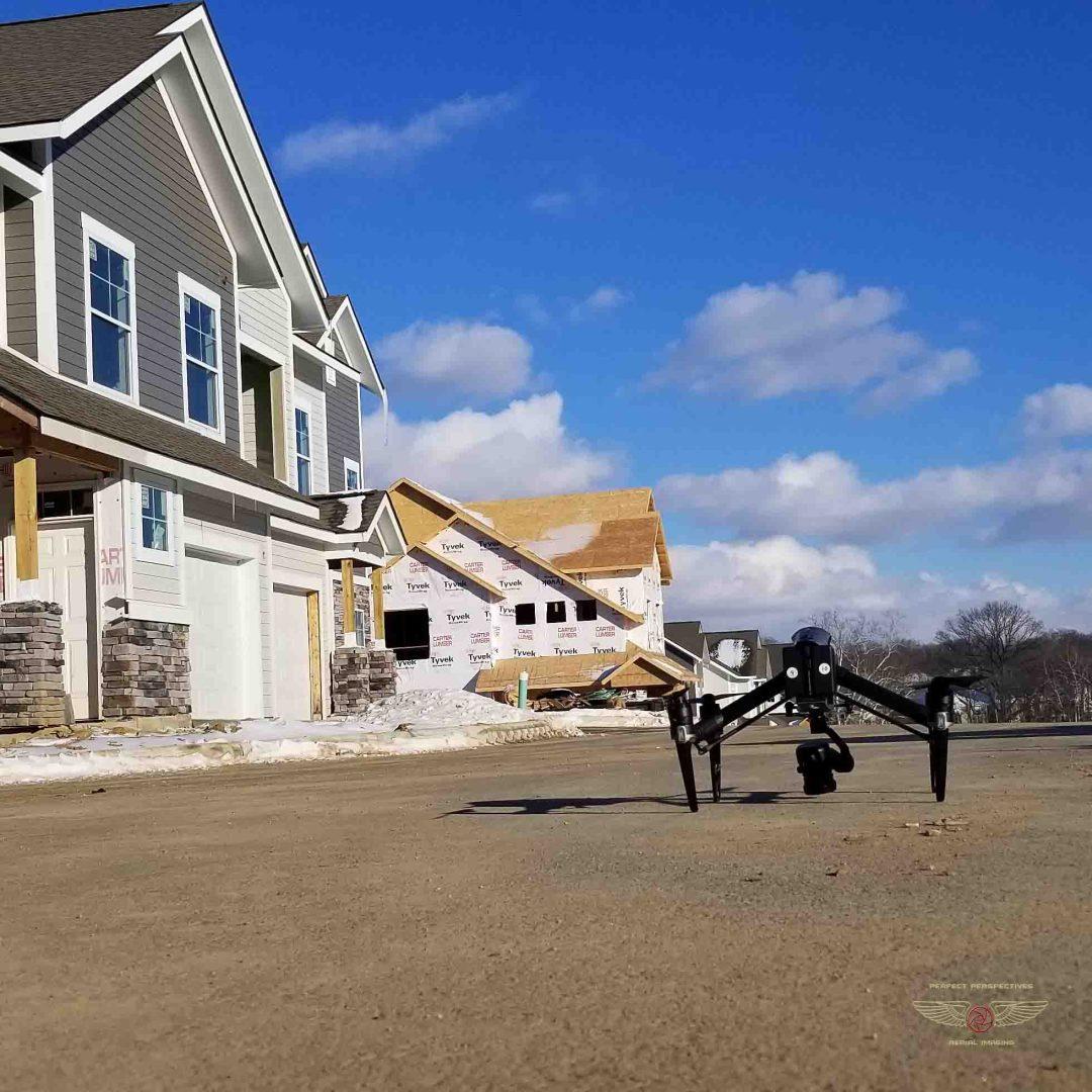 Apartment Construction Drone Aerial Photography in Cincinnati Ohio