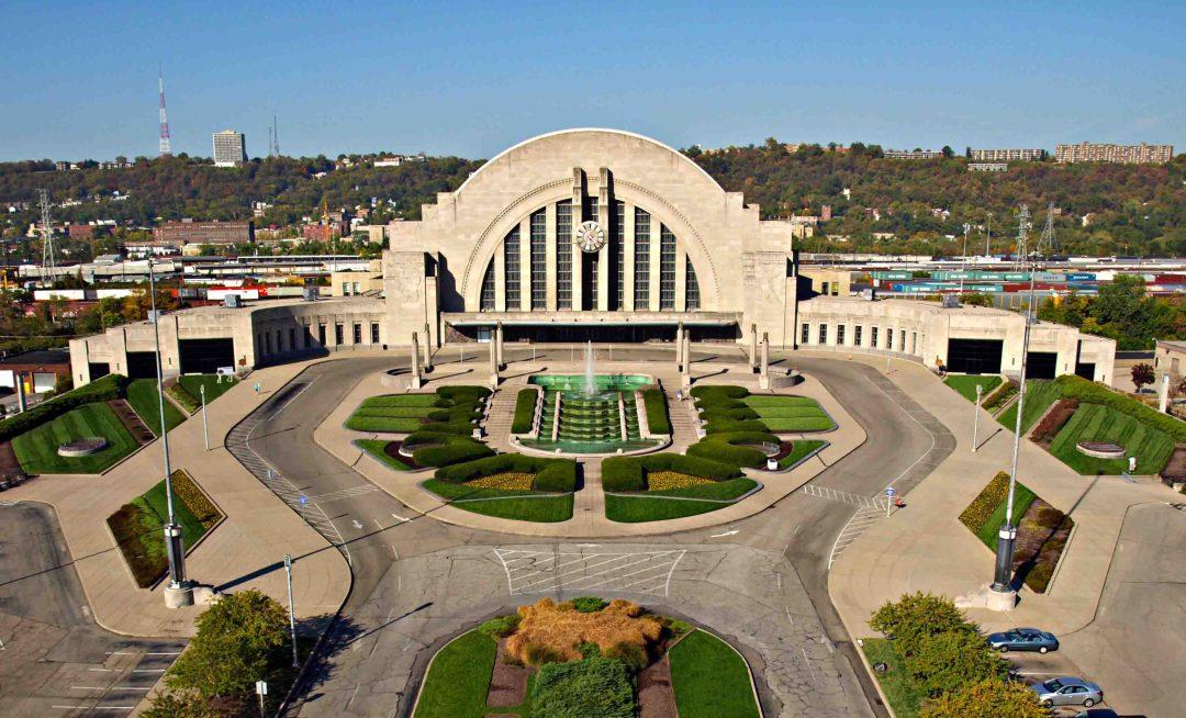 Aerial Drone Photography of Cincinnati Ohio Museum Center at Union Terminal
