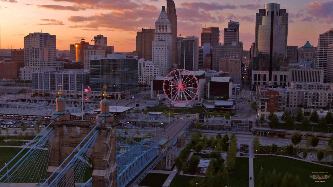 Cincinnati Aerial Photography Smale Riverfront