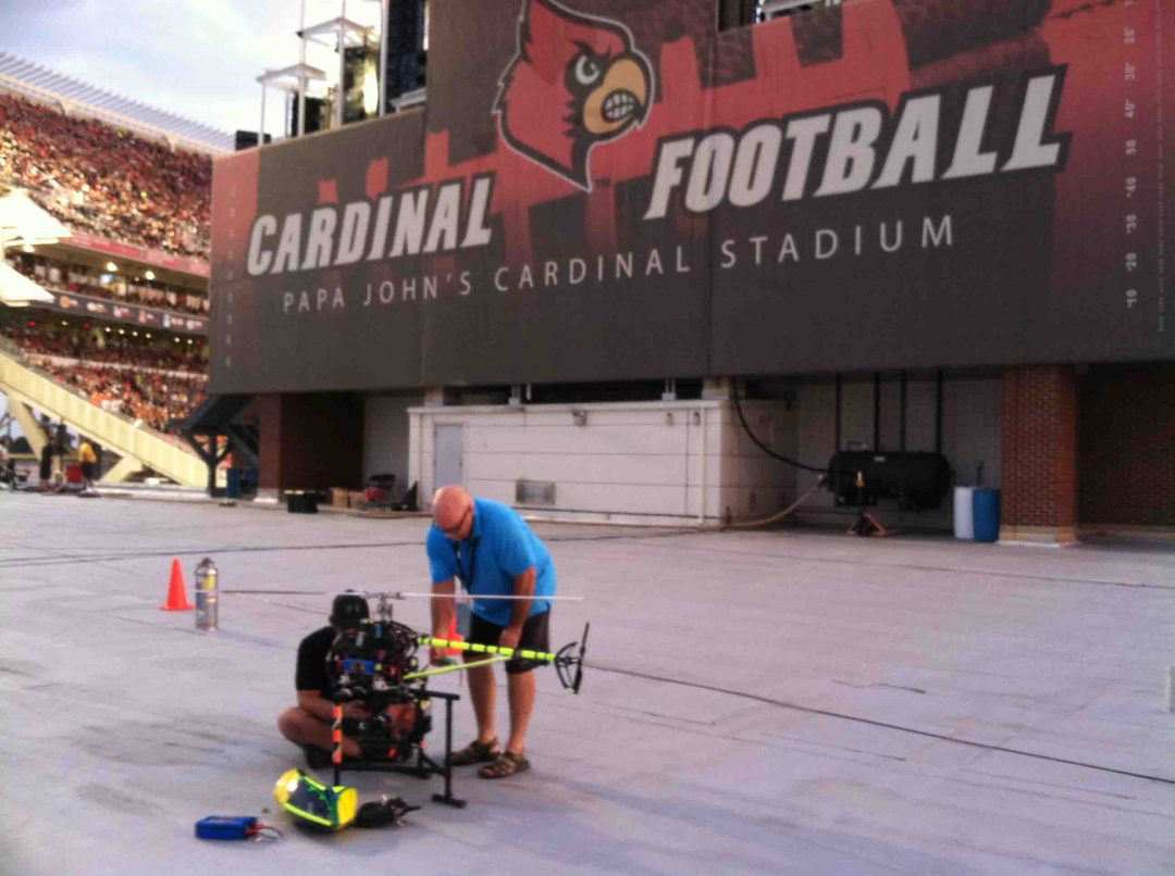 Drone Filming University of Louisville Cardinals NCAA Football