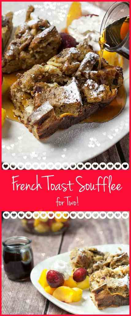Cinnamon Raisin French Toast Soufflée! You can wake up to this easy recipe anytime by doing all the prep the night before. Yummy PERFECTION.