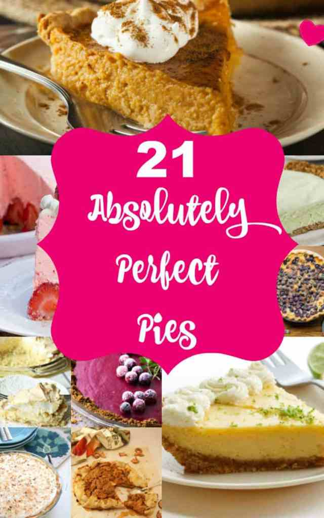 21 Perfect Pie Recipes? We got Lemon Meringue Pie, Coconut Cream, Pumpkin Pie, Key Lime Pie, CRACK PIE, Chocolate Pies, all from your fav Food Bloggers!