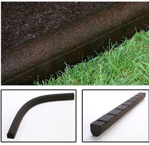rubber curbs - perfect mulch