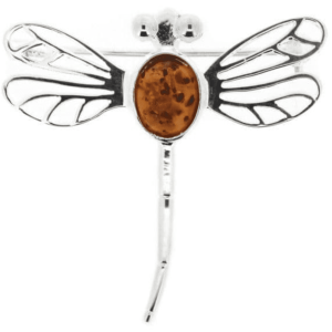silver plate dragon fly