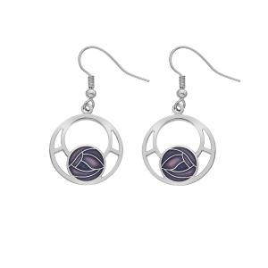 Purple sea gems earrings