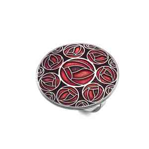 rose and roses scarf ring