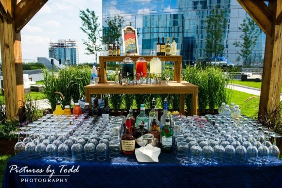 Corporate Catering Company | Philadelphia and Main Line | Drinks Table at Circa Green | Perfect Setting Catering
