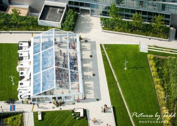 Corporate Catering Company | Philadelphia and Main Line | Arial View of Outdoor Event | Perfect Setting Catering