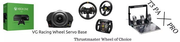 XboxOne Racing Wheel: Thrustmaster Servo, Wheel, T3PA-Pro
