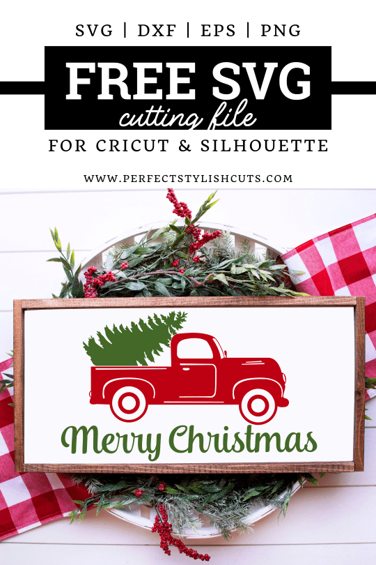 Christmas Truck Svg Free : christmas, truck, Merry, Christmas, Truck, PerfectStylishCuts, Files, Cricut, Silhouette, Cutting, Machines