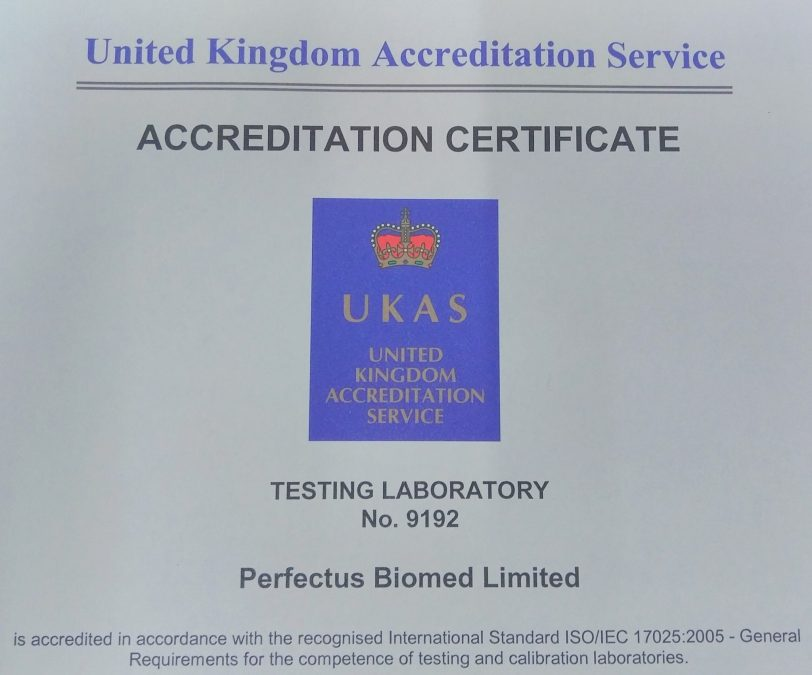 UKAS accreditation schedule