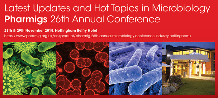 Perfectus Biomed exhibiting at Pharmig's 26th Annual Microbiology Conference