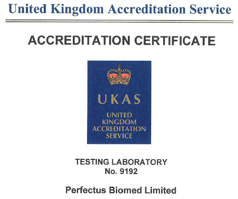 Perfectus Biomed have successfully transitioned from ISO 17025:2005 to ISO 17025:2017