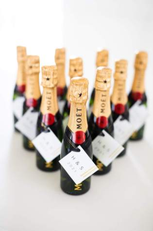 moet champagne bottle wedding favors
