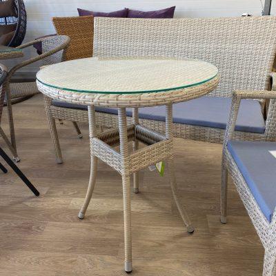 Круглый стол из ротанга заказать
