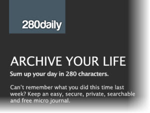 280daily, crear un diario personal online