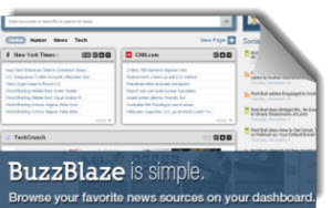 BuzzBlaze, lector social de feeds