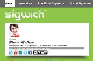 Crear firmas personalizadas con Sigwich Email Signature