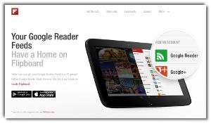 Flipboard - crear revista de noticias y feeds online