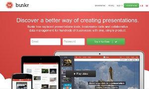 Organizar, crear y compartir presentaciones estilo Powerpoint con Bunkr