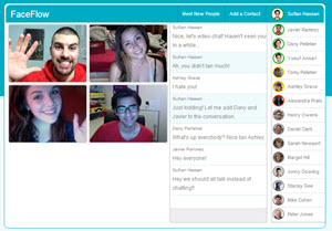 FaceFlow, videochat y videoconferencias online gratis sin instalar software
