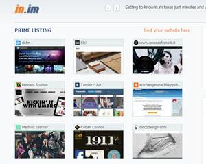 in.im - crea tu página de inicio en el navegador con tus sitios web favoritos