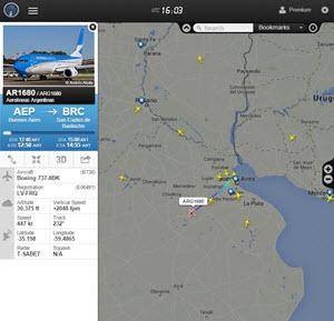 Flightradar24 - ver los vuelos de aviones desde un radar online