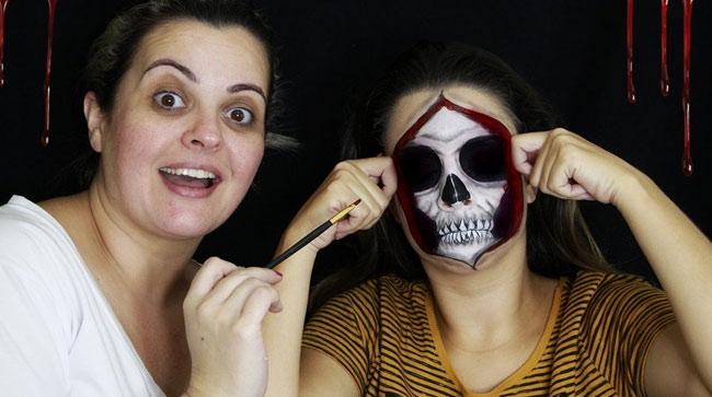 Maquiagem de caveira com Renata Monteiro
