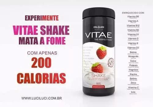Vitae Shake mata a fome com 200 calorias