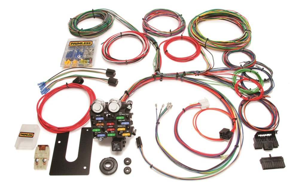 medium resolution of painless 10101 21 circuit classic customizable chassis harness gm keyed column