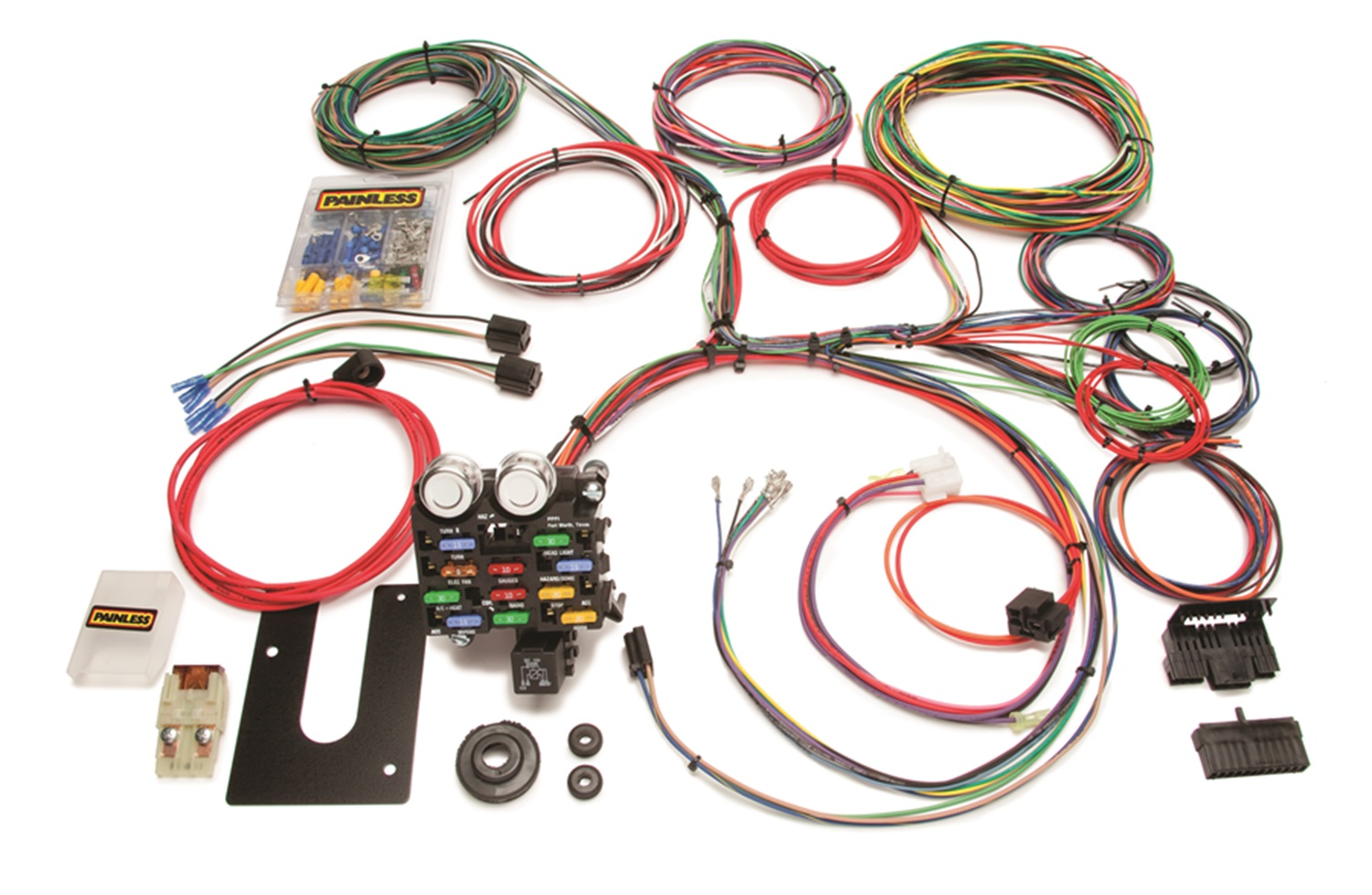 hight resolution of painless 10101 21 circuit classic customizable chassis harness gm keyed column