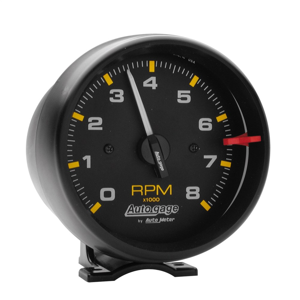 medium resolution of gauge tachometer 3 3 4in 8k rpm pedestal blk dial blk case autogage