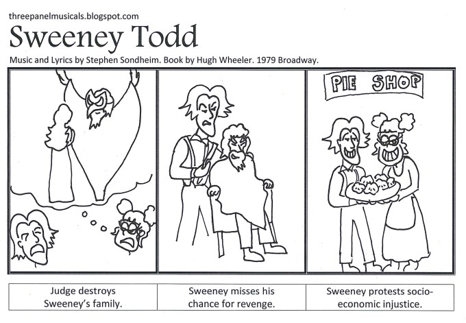 Sweeney Todd - Three Panel Musicals, by Paul Miller