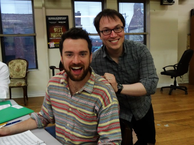 Austin Cook (Music Director) and Michael Mahler (Seymour) at first rehearsal