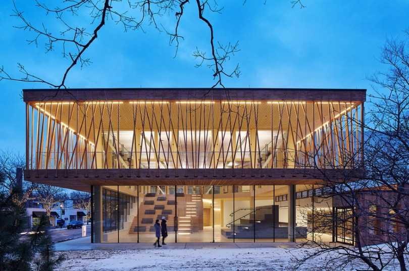The new Writers Theatre, designed by world renowned Chicago architect Jeanne Gang, opened in February