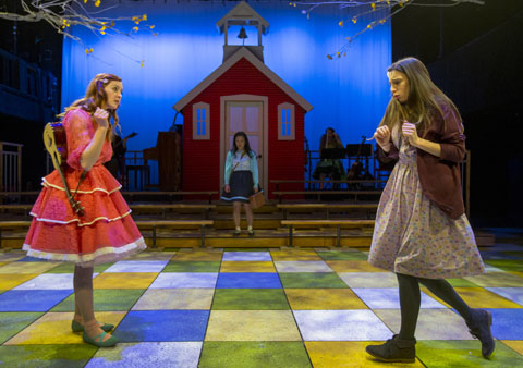 (front, from left) Erin O'Shea, Emily Berman, Christine Bunuan, Photo by Charles Osgood.