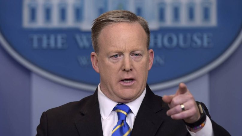 White House Press Sec. Sean Spicer Takes in MAMMA MIA! Performance at Marriott