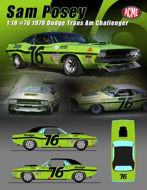 76 Dodge Challenger : dodge, challenger, Dodge, Challenger,, Posey, Details, Diecast, Cars,, Model, Models,, Collectibles,, Muscle