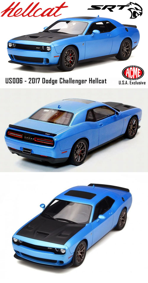 B5 Blue Challenger Hellcat : challenger, hellcat, Dodge, Challenger,, Hellcat, Details, Diecast, Cars,, Model, Models,, Collectibles,, Muscle