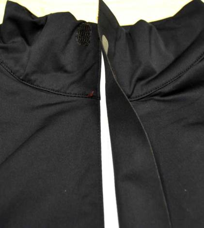 The partial zipper flap help keep the wind out