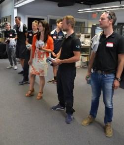 Team NetApp touring the office