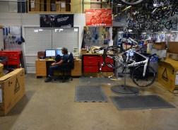 Repair shop in the warehouse