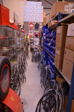 Wheels, components and clothing go wherever they fit