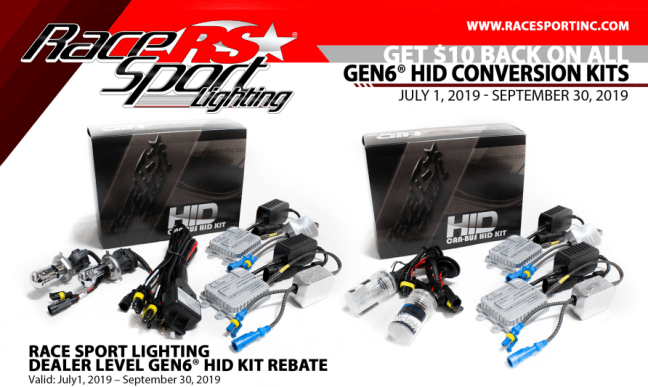 Race Sport Lighting: Get $10 Back on GEN6 HID Headlight Conversion Kits