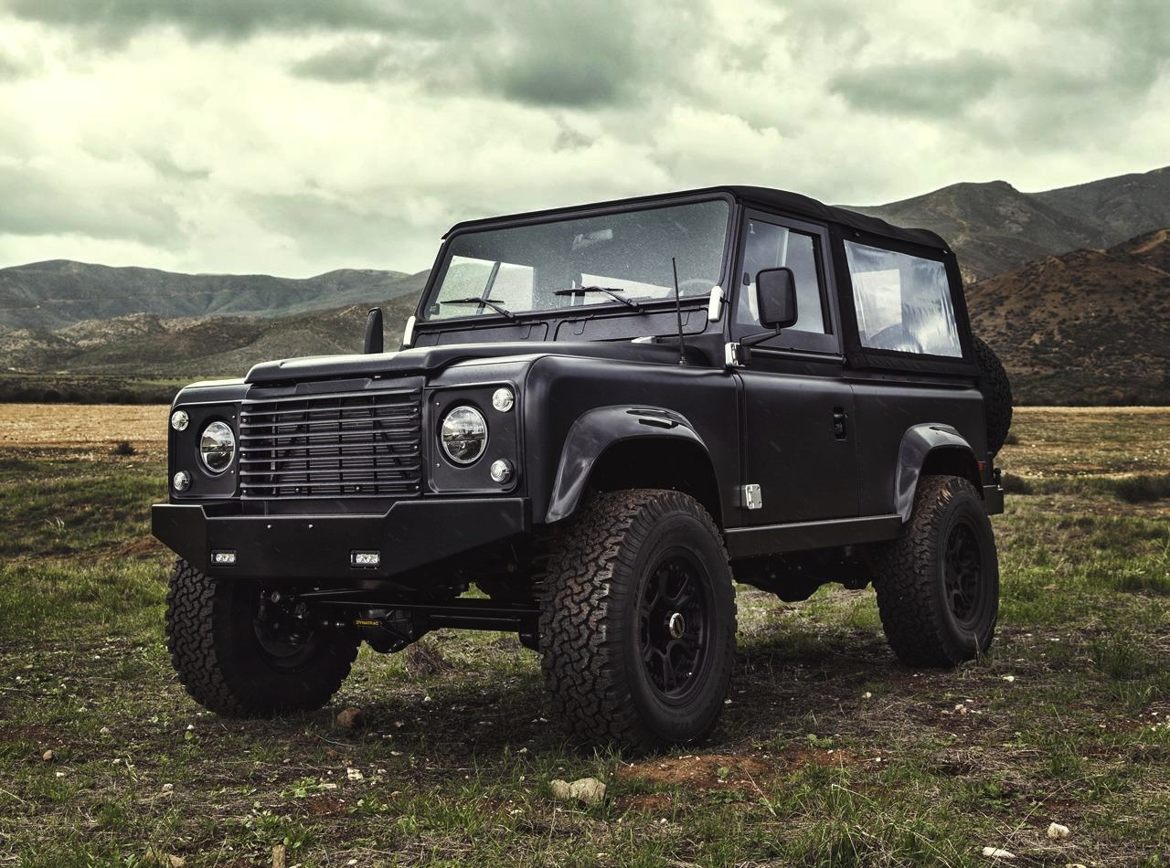Icon Land Rover Defender 90 with 62 Chev V8