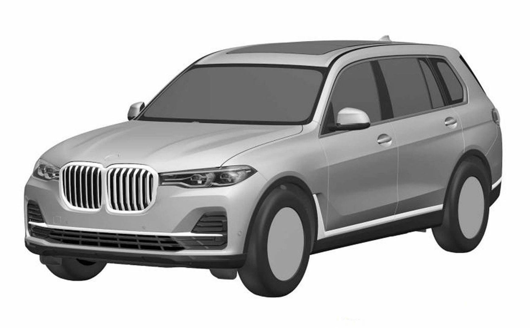 hight resolution of bmw x7 patent image front