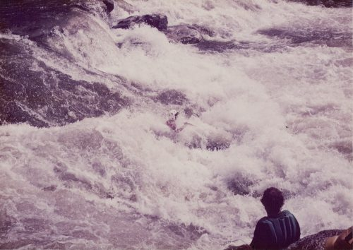 Scott Simmerman running a Class V whitewater rapid - Bull Sluice on the Chattooga River