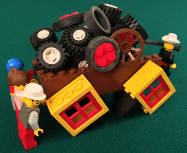 How things work in most organizations = Square Wheels images LEGO